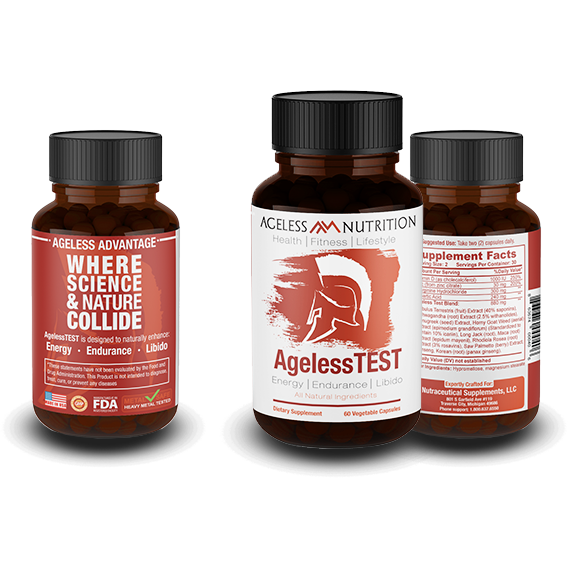 AgelessTEST - Natural Energy, Endurance, Libido Supplement