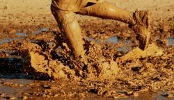 Running through mud
