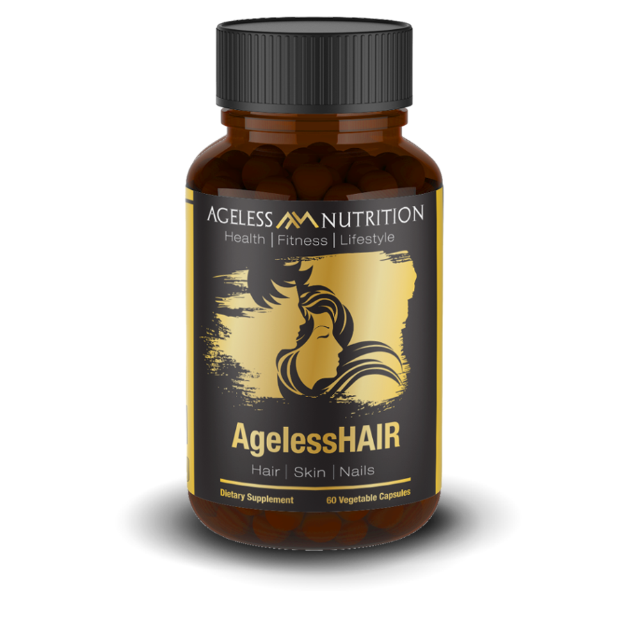 AgelessHAIR - All Natural Hair, Skin, and Nails Supplement with Biotin
