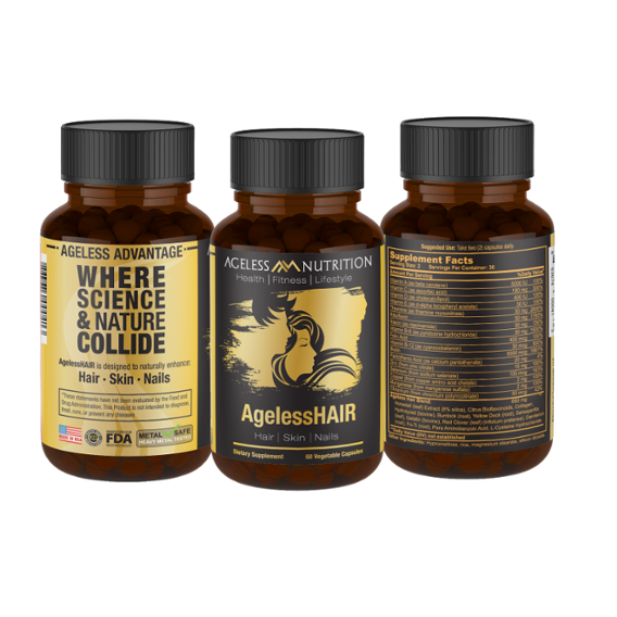 AgelessHAIR - All Natural Hair, Skin, and Nails Supplement