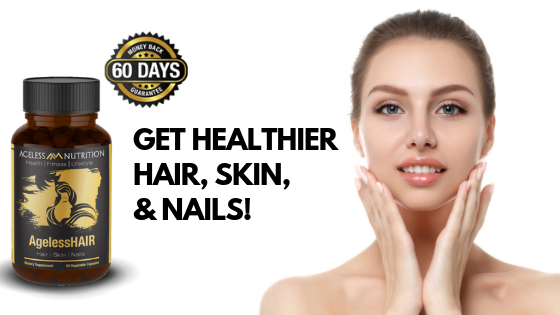 Woman With Healthy Hair Skin and Nails