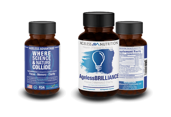 Ageless Brilliance Natural Supplement Bottles