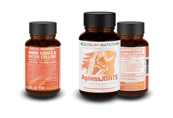 Ageless Joints Natural Supplement Bottles
