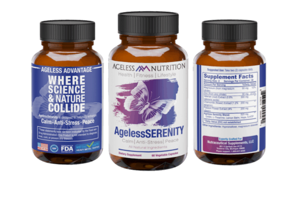 Ageless Serenity Natural Supplement Bottles