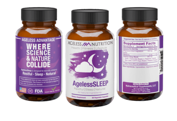 Ageless Sleep Natural Supplement Bottles