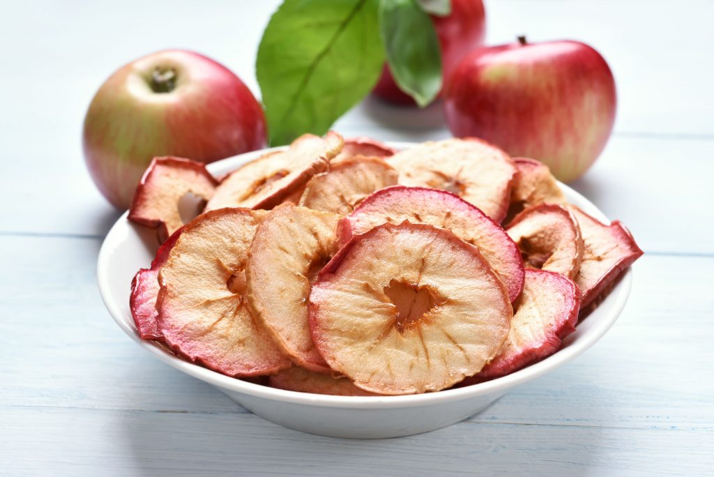 apple chips fruit healthy snack