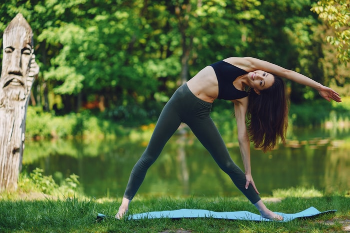 woman yoga pose for hip pain