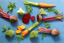 fresh beetroot and vegetables for boosting performance